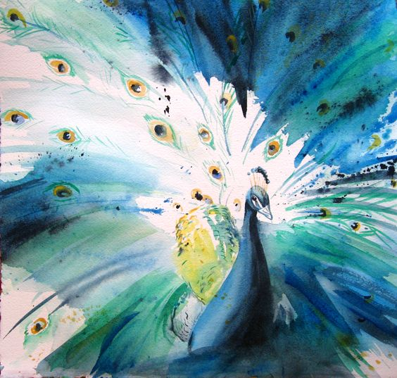 Bethany Cannon Art Studios | Peacock Watercolor