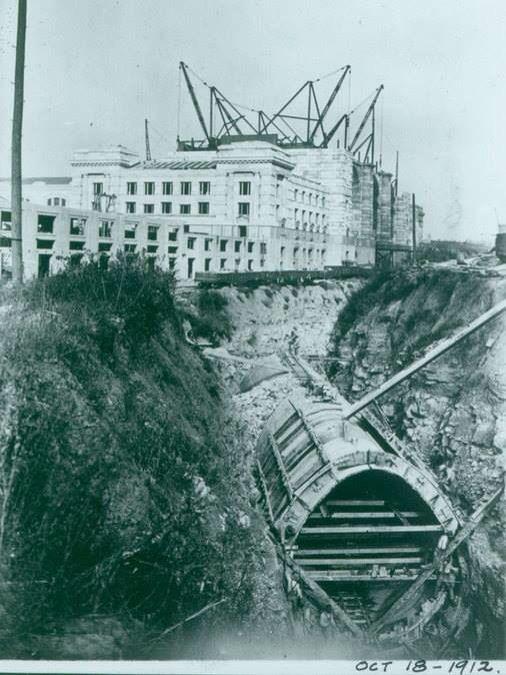 Union Station Construction Underground Tunnel That