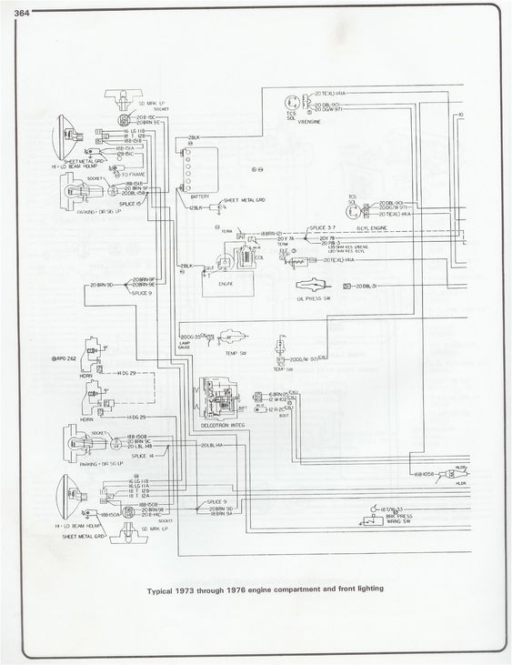 wiring diagram 73 chevy vega
