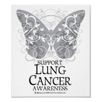 Lung Cancer Butterfly Poster by fightcancertees