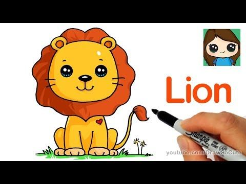 How To Draw A Pandacorn Cute And Easy Youtube Lion Drawing Simple Easy Disney Drawings Cartoon Lion