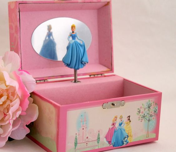 Cinderella Music Jewelry Box Disney Trinket Box Belle Sleeping
