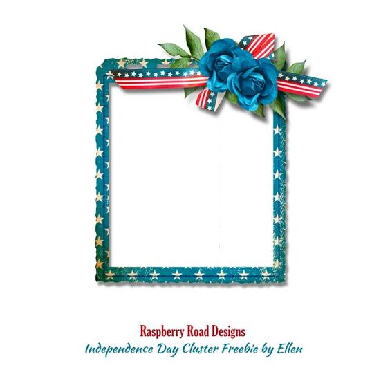 A wonderful patriotic themed cluster from CT Ellen using the Independence Day collection from Raspberry Road.: