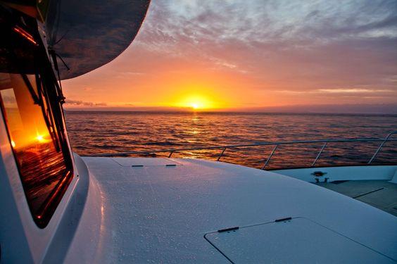 Sunrise over Baja, Pacific Ocean.