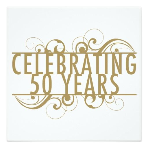 Celebrating 50 Years Of Marriage 5.25x5.25 Square Paper Invitation Card