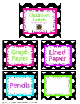 Classroom organization made easy!Use these labels to organize classroom supplies.There is also a blank label for you to create your own....