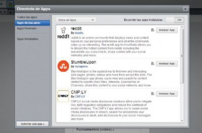 HootSuite añade nuevas aplicaciones a su directorio, StumbleUpon y Reddit entre ellas