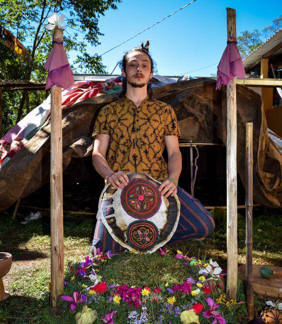 Ayahuasca ocher shipibo t shirt / Sacred Geometry / Ayahuasca clothes…