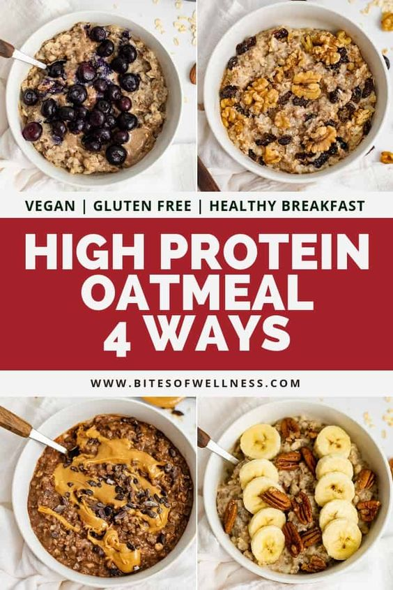 High Protein Oatmeal | 4 Ways