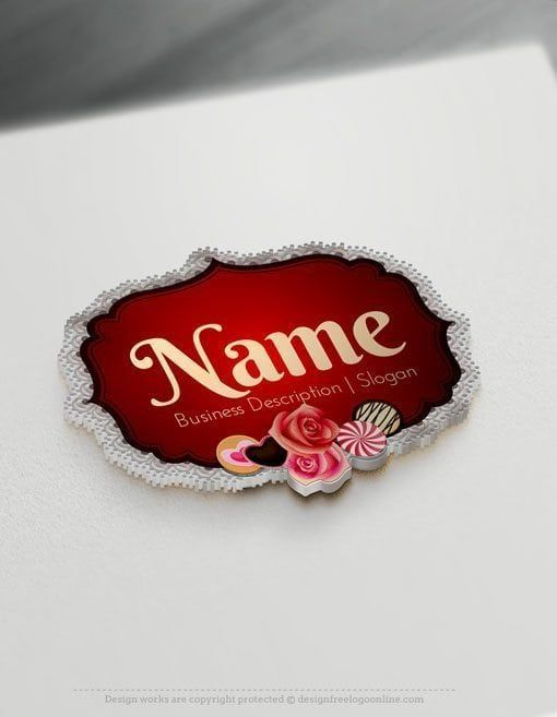 Free Bakery Logo Maker Vintage Cake Logo Template Design Cake Logo Design Wedding Cake Logo Candy Logo