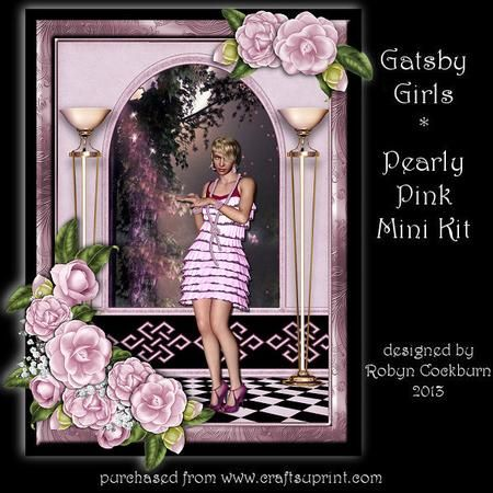 Gatsby Girls - Pearly Pink Card Mini Kit