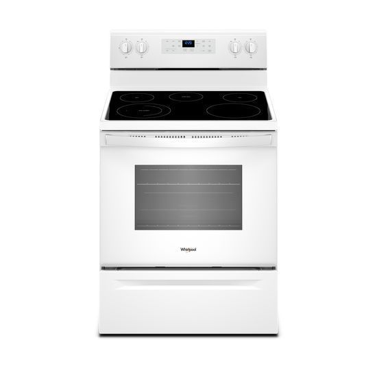 Shop Whirlpool Smooth Surface Freestanding 5 Element 5 3 Cu Ft