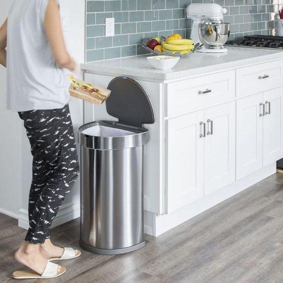ゴミ箱 生ごみ キッチン ステンレス 蓋つき イメージ インテリア