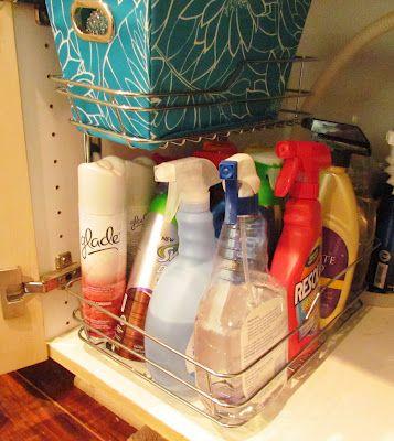 under the sink organized storage