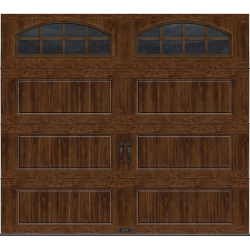 Ideal door 9 ft x 8 ft walnut long panel insulated for 9 foot exterior doors