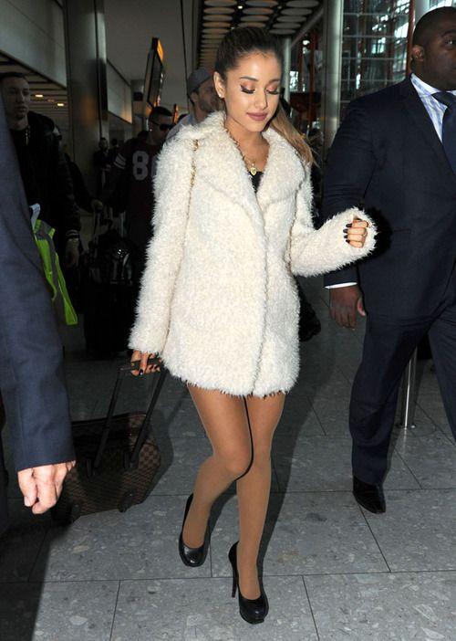Ariana Grande - At London's Heathrow Airport 10/07/14