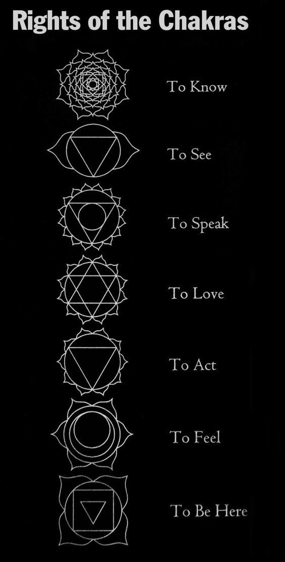 Rights of the Chakras. Chakra Seven = The Right to Know The right to accurate information, to knowledge, truth, and to simply know what's going on. Chakra Six = The Right to See Clear physical seeing, psychic perception, and the seeing of patterns,...