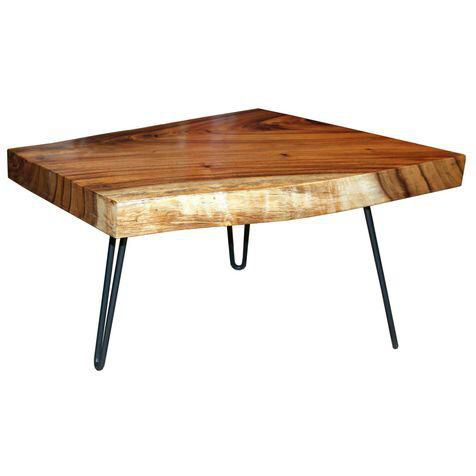 Acacia Wood Coffee Table Live Edge Coffee Table Coffee Table