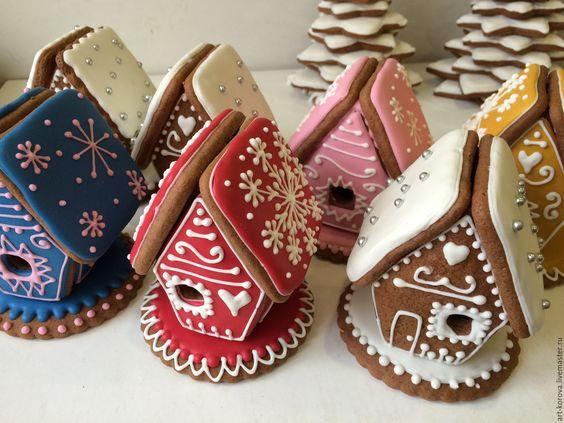 Купить Маленький пряничный домик с волшебной историей на Новый год, Рождество - пряничный домик, подарок на новый год: