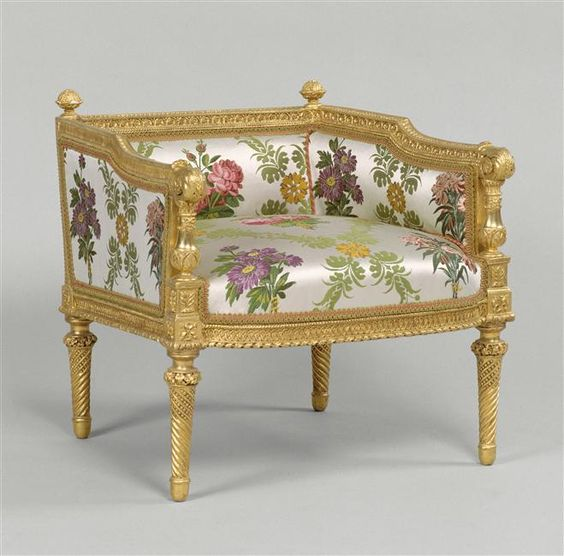 Antoinette French Sleigh Bedroom Armchair: Furniture Made For The Château De Compiègne For Marie
