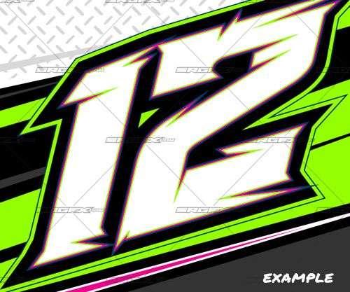 Race Car Numbers Graphics 284469 Number Fonts Car Sticker Design Graphic Design Logo Typography