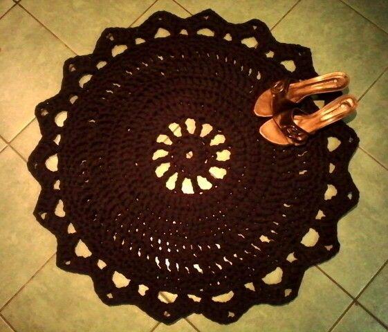 Crochet rug alfombra totora