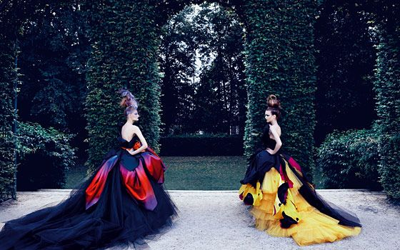 Images from DIOR COUTURE shot by Patrick Demarchelier