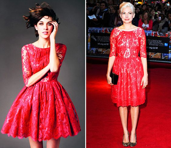 Alexa Chung Or Michelle Williams: Who Wore Erdem Best? - Lace- MTV ...