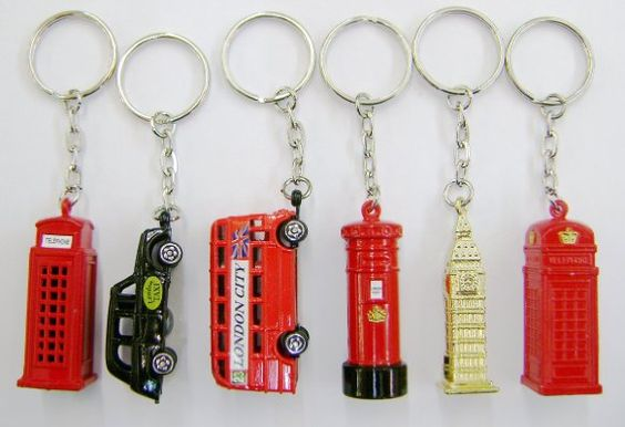 Set of 6 Die Cast Metal London City Keyrings, London Taxi, London Bus, Big Ben, Post Box & Two Telephone Boxes:Amazon.co.uk:Toys & Games