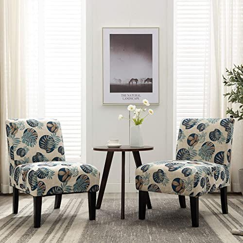 New Altrobene Modern Armless Accent Slipper Chairs Living Room Bedroom Side Chair Side Chairs Bedroom Blue Furniture Living Room Accent Chairs For Living Room