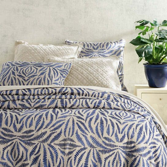 This Embroidered Duvet Cover Adds A Primordial Vibe To Any Bed
