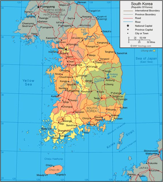 East Asia map with capitals The countries that are part of East – Asia Map with Capitals and Countries