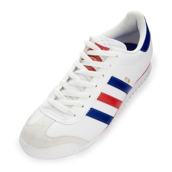 """adidas originals """"Rom"""" (White / Blue / Light Scarlet)"""