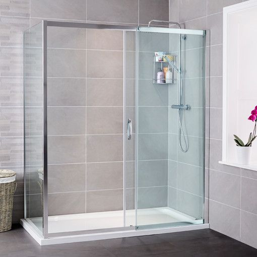 Aquafloe Iris 8mm 1200 X 800 Sliding Door Shower Enclosure Banos