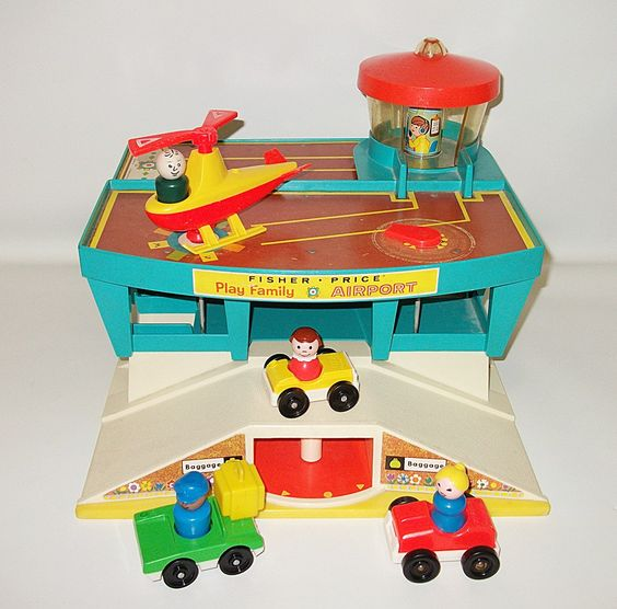 Toys For Church : Vintage fisher price play family airport playset toy