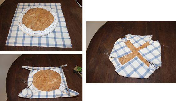 Como forrar almofada redonda cadeira