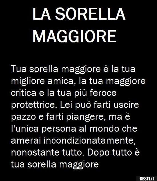 La Sorella Maggiore Besti It Immagini Divertenti Foto