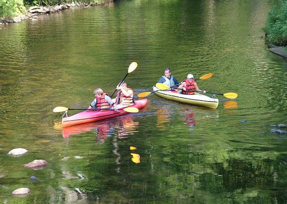 Kayakers in the Okemo Valley, Vermont