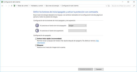 Inicio rápido en Windows 10