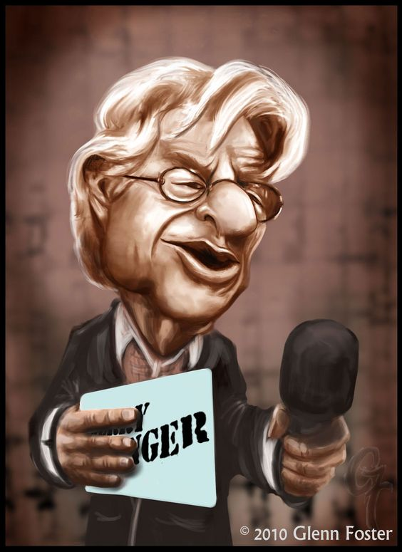 Jerry Springer caricatures | Jerry Springer Caricature by MadPoint25