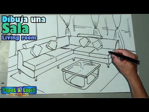 Dibujar Facil Una Sala Muebles Y Mesa Living Room Drawing Forniture Youtube Living Room Drawing Muebles Sala