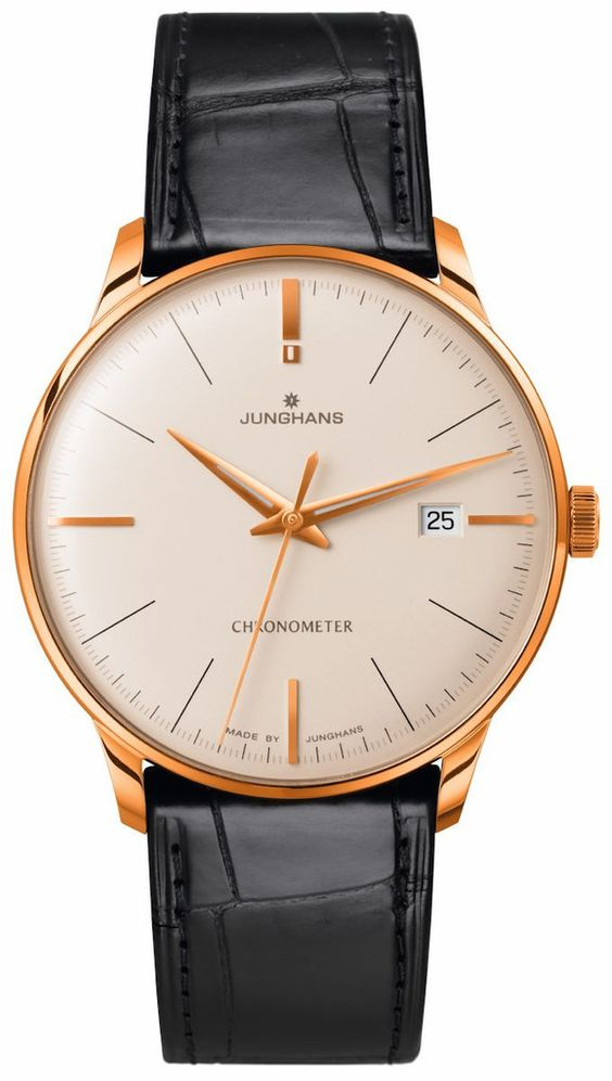 @junghansgermany Watch Meister Chronometer Gold Limited Edition #bezel-fixed #case-depth-9mm #case-material-rose-gold #case-width-38-4mm #cosc-yes #date-yes #delivery-timescale-7-10-days #dial-colour-gold #gender-mens #limited-edition-yes #luxury #movement-automatic #official-stockist-for-junghans-watches #packaging-junghans-watch-packaging #style-dress #subcat-meister #supplier-model-no-027-9334-01 #warranty-junghans-official-2-year-guarantee #water-resista...