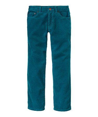 teal corduroy pants - Pi Pants