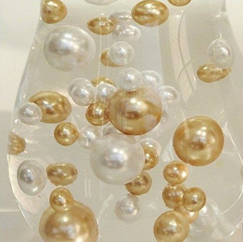 Easy elegance antique gold white pearl beads w free