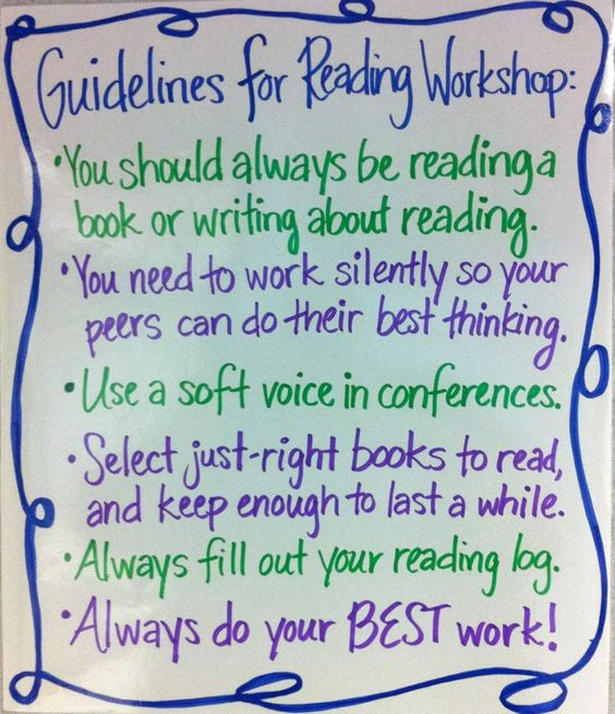 Creative writing workshop guidelines