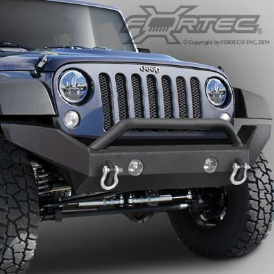 Or Fab Front Full Width Bumper Without Winch Mount For 07 14 Jeep