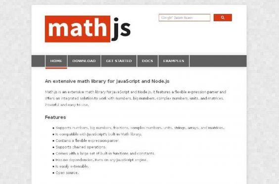 WebDesign: Une bibliothèque de math pour JavaScript et Node.js - Math.js  Math.js est une grande bibliothèque de mathématiques pour JavaScript et Node.js.   http://noemiconcept.com/index.php/fr/departement-communication/news-departement-com/206910-webdesign-une-biblioth%C3%A8que-de-math-pour-javascript-et-nodejs-mathjs.html
