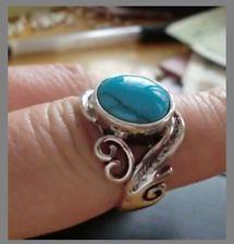 Exquisite Tibetan silver inlaid turquoise Rings