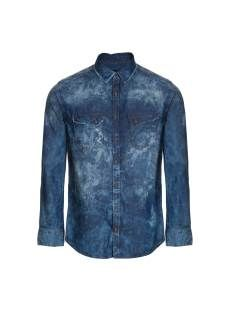 Camisa Jeans Escura Destroyed