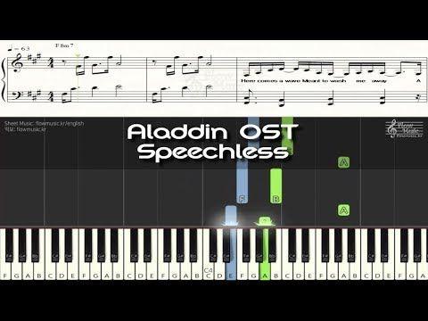 Aladdin Ost Speechless Piano Sheet Music Youtube Sheet Music